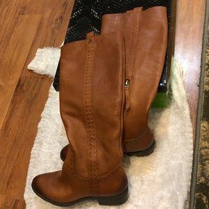 Sam Edelman Prina Whiskey Leather Riding Boots